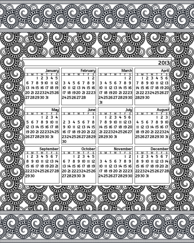 Full Page Blank Calendar Template Unique Dont Eat The Paste 2013 Printable Calendar