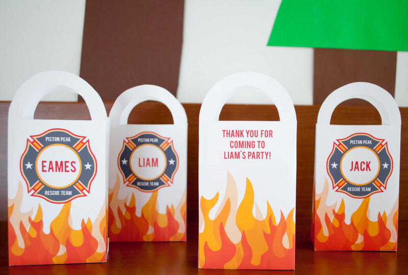 Goodie Bag Label Template Awesome Diy Personalized Firefighter Printable Favor Bags For A