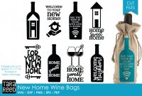 Goodie Bag Label Template New New Home Gift Wine Bags Svg or Cut Files for Crafters