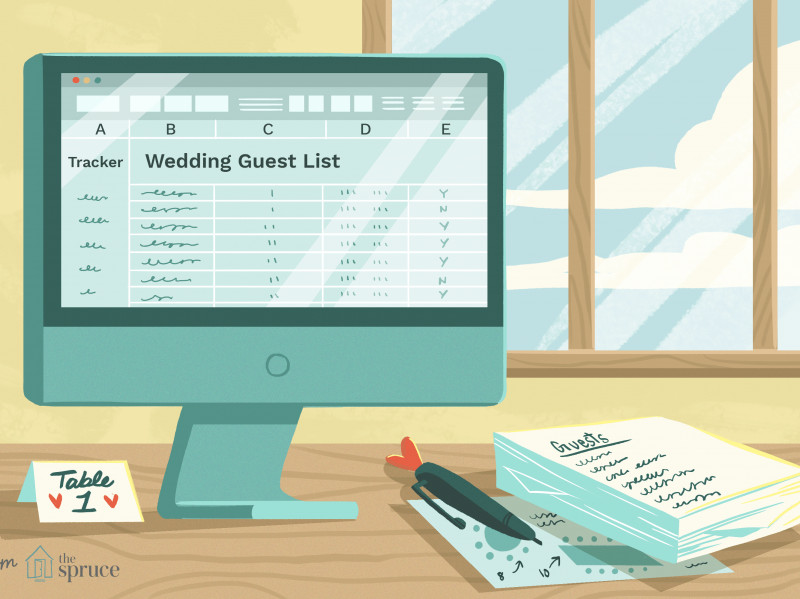 Google Docs Label Template Awesome 7 Free Wedding Guest List Templates And Managers