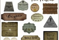 Harry Potter Potion Labels Templates New Hogwarts Potion Bar Lightning Cosplay