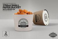 Heinz Label Template Awesome Small Paper Bucket Paper Lid Mockup Dengan Gambar