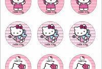 Hershey Labels Template New Hello Kitty Cupcake Templates Samyysandra Com