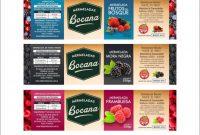 Ingredient Label Template Unique Sistema Etiquetas Bocana Linea Mermelada Por Sabores