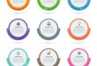 Inventory Labels Template Awesome Infographics Circle Paper Index with 9 Data Template Vector