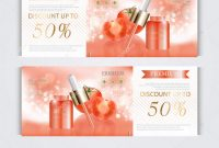 Lip Balm Label Template New Gift Voucher Hydrating Facial Serum Annual Sale Festival