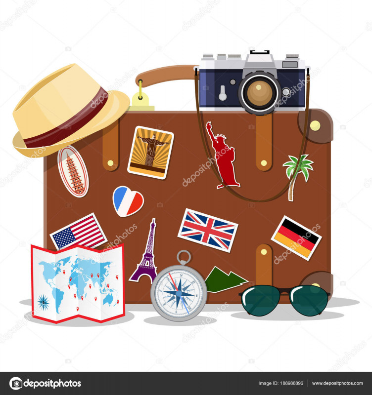 Luggage Label Template Free Download New Vintage Old Travel Suitcase Stock Vector A Drogatnev