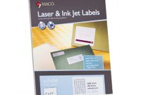 Maco Label Templates Awesome Macoa Laser Ink Jet White Upc Labels Macml5000 Permanent Adhesive 1w X 1 1 2l Rectangle White 50 Per Sheet Box Of 5000 Item 142570