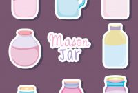 Mason Jar Label Templates Unique Set Of Mason Jar Drawings Download Free Vectors Clipart