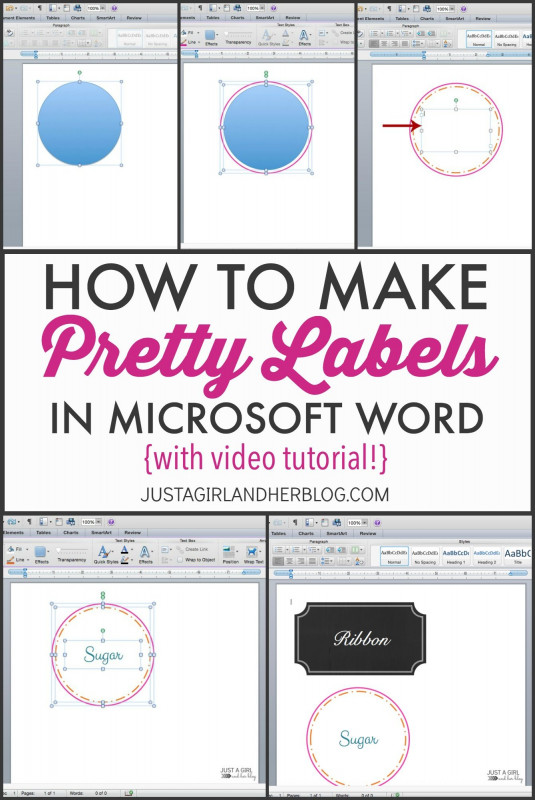 Microsoft Word Sticker Label Template New How To Make Labels From Excel Spreadsheet Video Pretty In