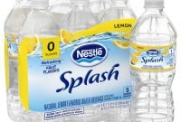 Mineral Water Label Template Awesome Nestl Splash Natural Lemon Flavored Water Beverage 16 9 Oz