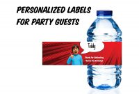 Mineral Water Label Template Unique Pin by Trin Bean On Cree 6th Party Personalized Labels