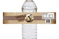 Minnie Mouse Water Bottle Labels Template Unique Label Paper for Water Bottles
