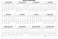Month at A Glance Blank Calendar Template New Yearly Printable Calendar