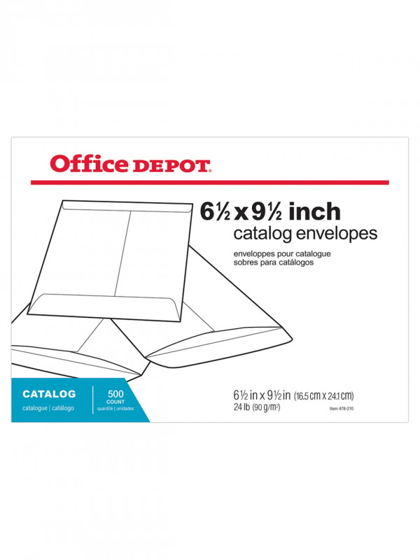 Office Depot Address Label Template Awesome Office Depota Brand Large Format Open End White Envelopes 6 1 2 X 9 1 2 Box Of 500 Item 478210