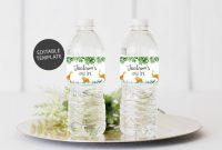 Office Depot Labels Template Awesome Safari Water Bottle Label Template Editable Water Bottle
