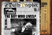 Old Blank Newspaper Template New Daily Prophet Newspaper Template Harry Potter Google Slides