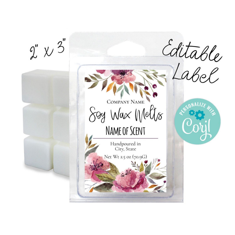 Online Labels Template New Editable Watercolor Floral Label 2x3 Customize