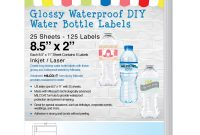 Package Address Label Template New Milcoast Glossy Waterproof Tear Resistant Diy Water Bottle Labels 25 Sheets