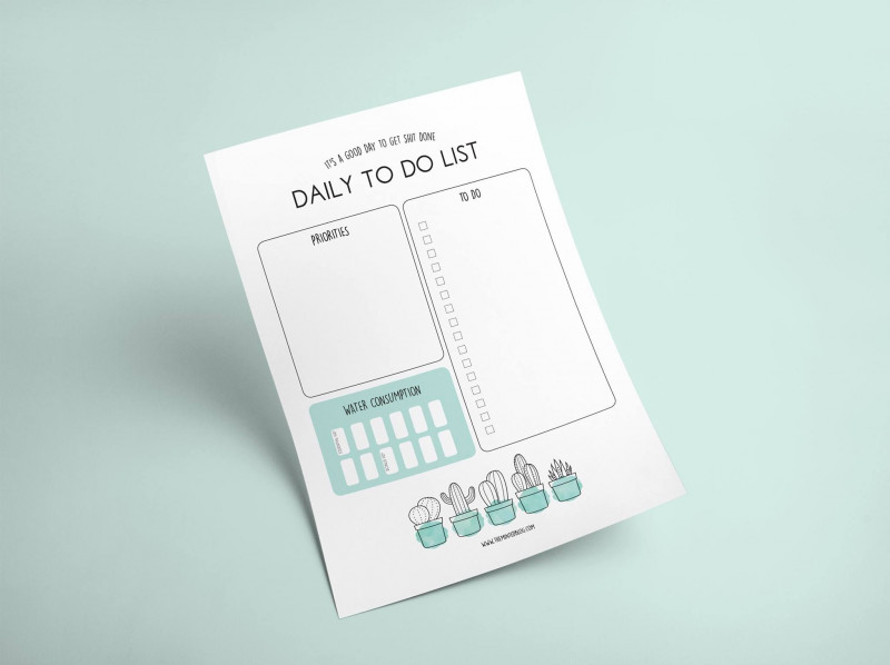 Pallet Label Template Awesome Cute Cactus Free Printable To Do List Including Hydration