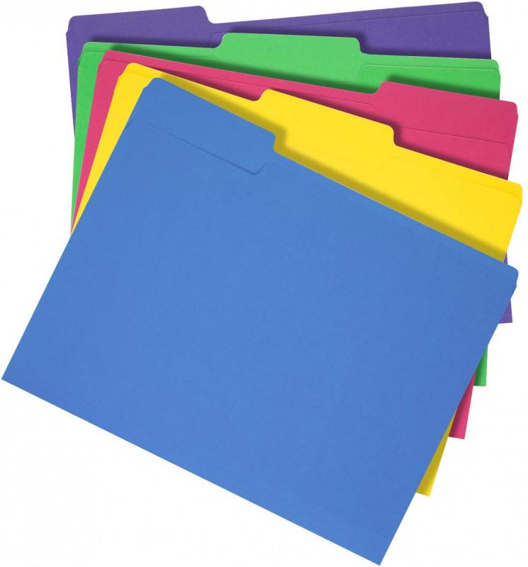 Pendaflex Label Template New Amazonbasics 3 Tab Heavyweight Manila File Folders Letter Size Assorted Colors 50 Box