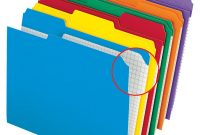 Pendaflex Label Template New Pendaflexa Color Reinforced top File Folders with Interior Grid 1 3 Cut Letter Size assorted Colors Pack Of 100 Item 935494