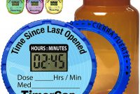 Prescription Bottle Label Template Unique Timercap Automatically Displays Time since Last Opened Built In Stopwatch Smart Pill Bottle Cap Medication Reminder Case 4 Pack Large 4 Oz Amber