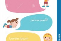 Printable Blank Comic Strip Template for Kids Awesome Vector Brochure Backgrounds with Cartoon Children