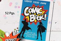Printable Blank Comic Strip Template for Kids Unique Fun Express Create Your Own Comic Book Activity Pads 12 Count Great for Party Prizes Favors Superhero themed Birthdays Halloween Supplies