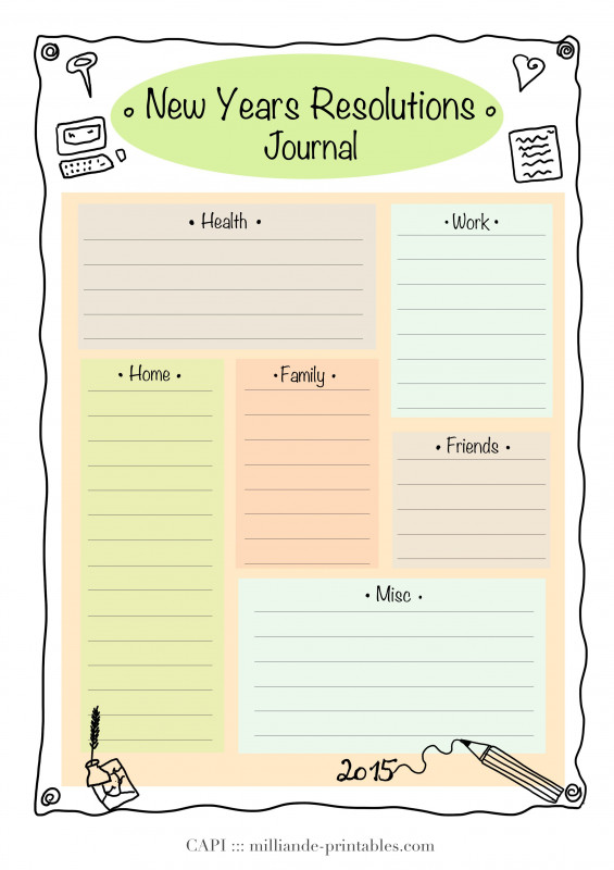 Printable Blank Daily Schedule Template New Resolution New Year Printable 2015 Day Planner Template For