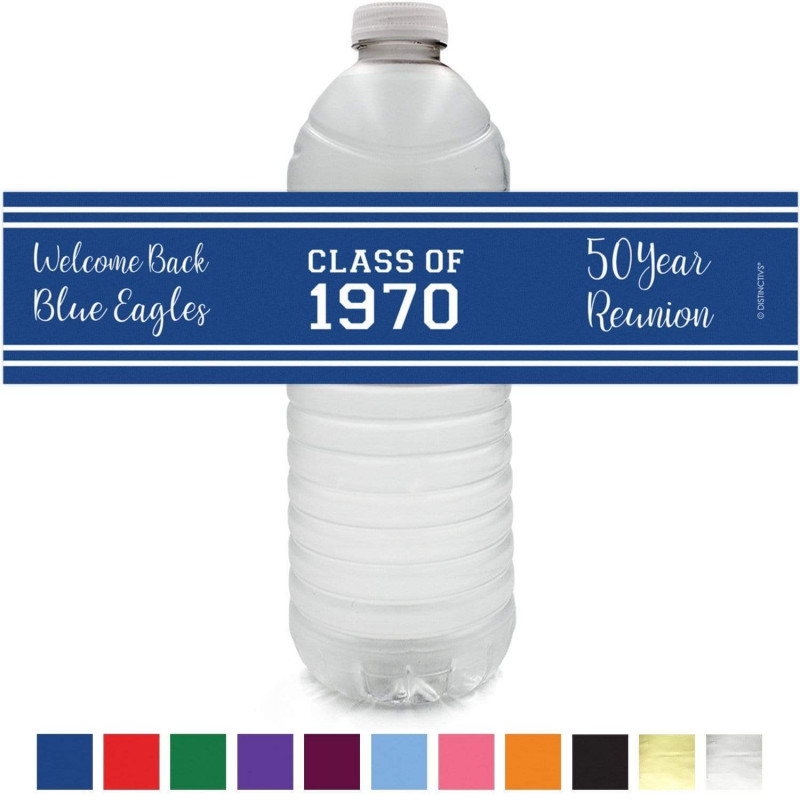 Printable Water Bottle Labels Free Templates Awesome Personalized Class Reunion Party Water Bottle Labels 12 Ct 12 Color Choices