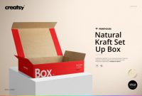 Secondary Container Label Template Unique Natural Kraft Set Box Mockup Set Box Mockup Business Card