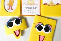 Sesame Street Label Templates Awesome Big Bird Baby Shower Invitations Sesame Street Inspired