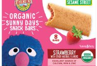 Sesame Street Label Templates Awesome Earths Best organic Sesame Street Sunny Day toddler Snack Bars with Cereal Crust Strawberries 8 Count Box