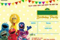 Sesame Street Label Templates Unique Sesame Street Party Invitations Personalized Cobypic Com