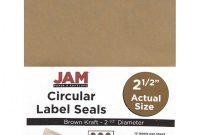 Sticker Label Printing Template Awesome Jam Papera Circle Label Sticker Seals 2 1 2 Brown Kraft Pack Of 120 Item 773247