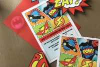 Superhero Water Bottle Labels Template Awesome Superhero Party Invites Uk Cobypic Com