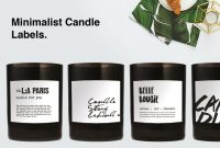 Sweet Labels Template Awesome Minimalist Candle Label Candle Labels Minimalist Candles