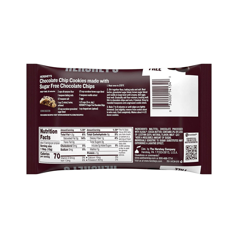 Template For Labels 8 Per Sheet Awesome Hersheys Sugar Free Chocolate Chips 8 Ounce Bag