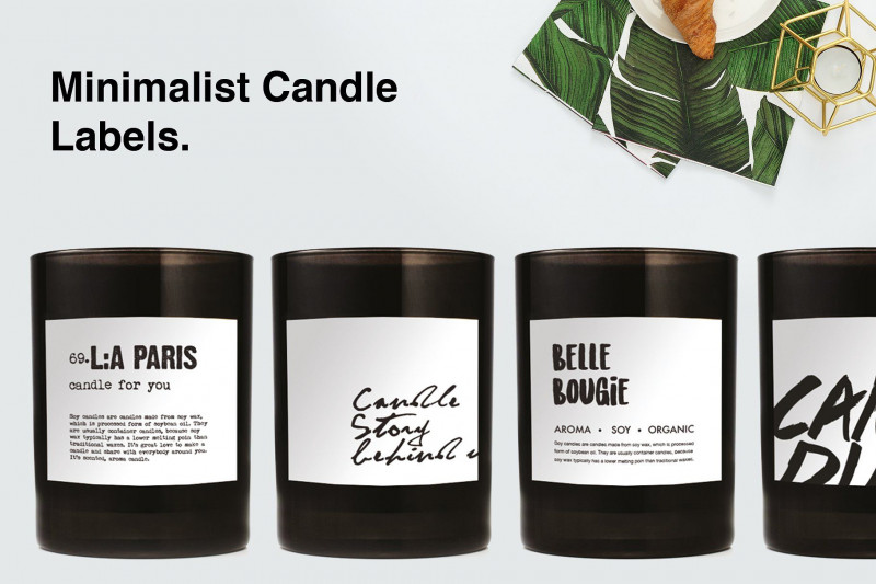 Templates For Labels For Jars New Minimalist Candle Label Candle Labels Minimalist Candles