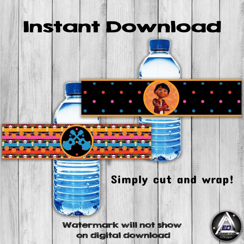 Water Bottle Label Template Free Word Unique Coco Water Bottle Labels Coco Party Coco Printable Labels