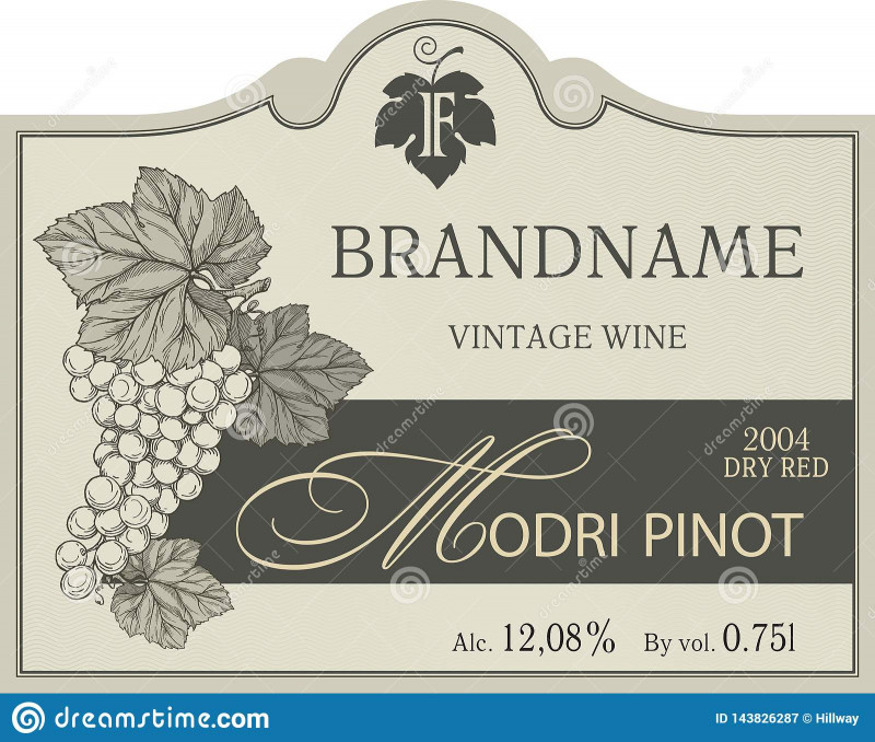 Z Label Template Unique Vintage Wine Label Template Stock Vector Illustration Of