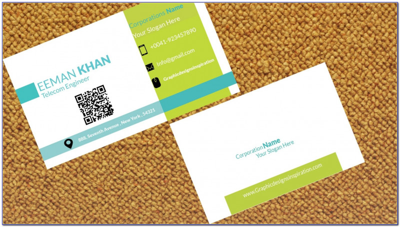 2 Sided Business Card Template Word New Business Card With Qr Code Template Vincegray2014