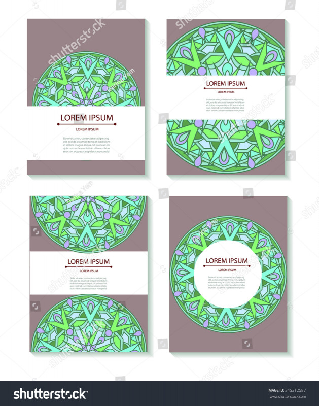 Adobe Illustrator Business Card Template Awesome Set Templates Business Cards Invitations Circular Stock