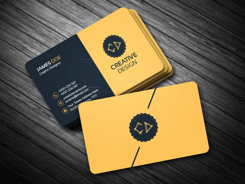 Adobe Illustrator Card Template Awesome Golden Business Card Template Bundle 000114
