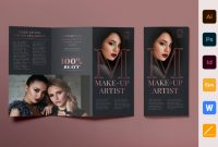 Adobe Illustrator Card Template Awesome Trifold Brochure Makeup Artist