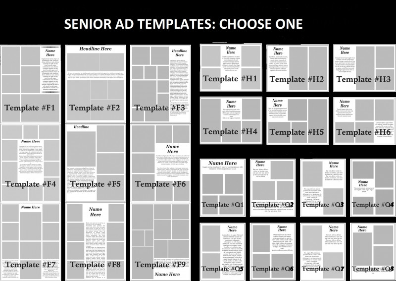 Advertising Rate Card Template Unique How to Buy A Senior Yearbook Ad Templates Free Carlynstudio Us