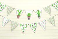 Amscan Imprintable Place Card Template Unique Feestversieringen Craft Cactus Paper Creative Bunting