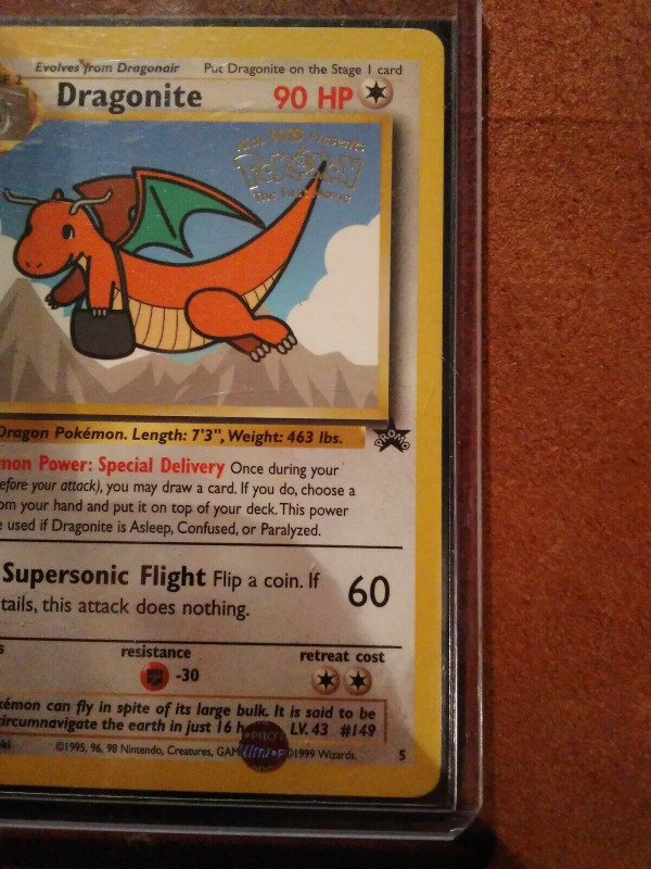 Amscan Templates Place Cards New Lp Pokemon Card Dragonite Wb Promo 5 Non Holo