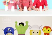 Avengers Birthday Card Template New Our Avengers Made From Paper Cups and Rubber Bands Leap